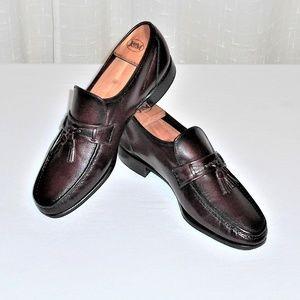 Florsheim Burgundy Leather Tassel Loafer 9.5 D